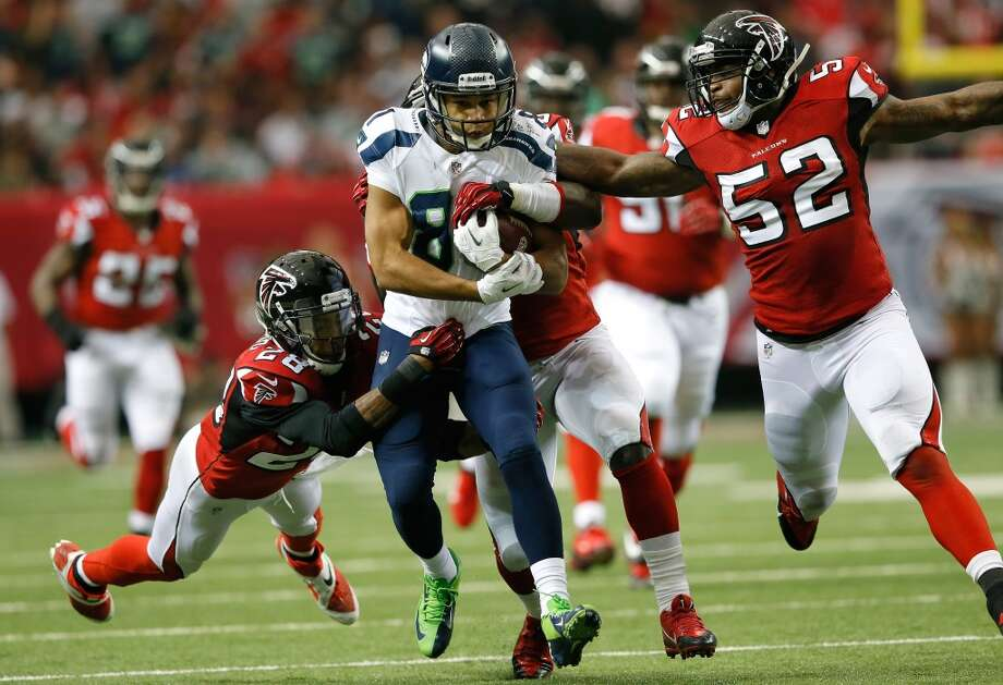 Nov. 10, 2013 — Seahawks at Atlanta FalconsTate catches the ball in the backfield on a screen pass from Wilson, then powers up the field for a 46-yard gain, squeezing past several defenders and dragging a couple of Falcons for 5 yards more. Seattle beats the Falcons 33-10.Watch the video on NFL.com Photo: Kevin C. Cox, Getty Images