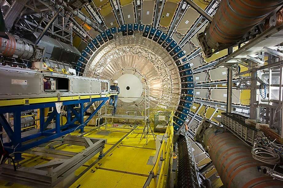 A look inside the ATLAS detector that was part of the experiment in the film. Photo: Heinz Pernegger, CERN