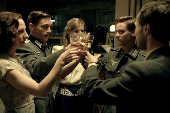 Katharina Schuttler as Greta, Volker Bruch as Wilhelm, Miriam Stein as Charlotte, Tom Schilling as Friedhelm, and Ludwig Trepte as Viktor in Phillip KadelbachÕs GENERATION WAR.