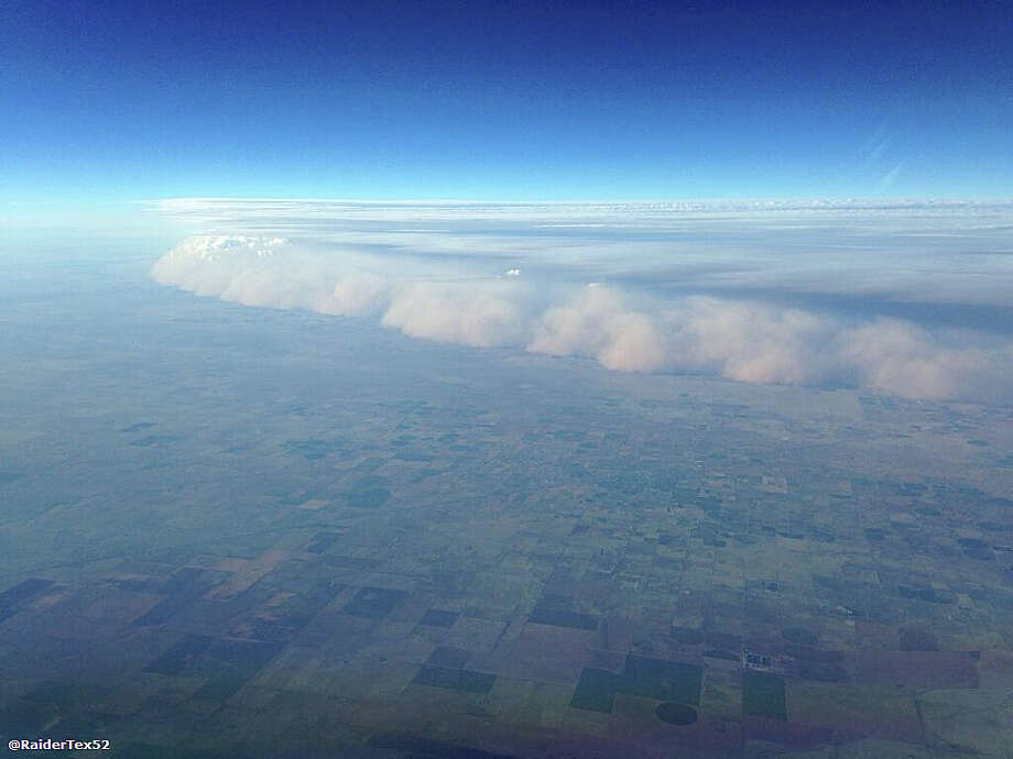 A dust storm, or haboob, seen from 38,000 feet northwest of Amarillo. (via Twitter by Ryan Scott of Dallas) Photo: Photo Courtesy Of Ryan Scott  / photo courtesy of Ryan Scott
