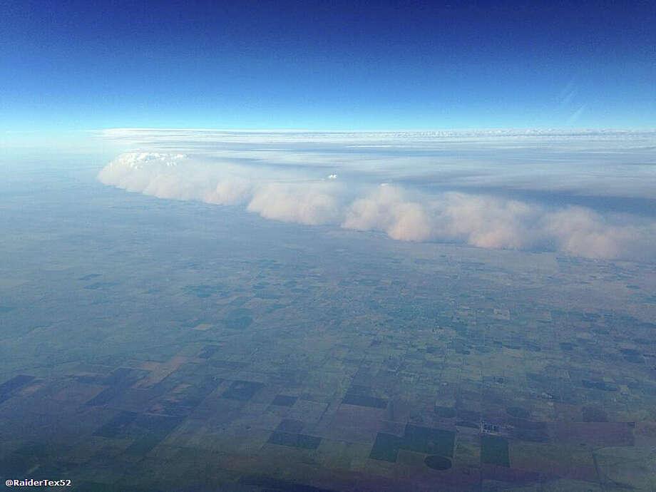 A dust storm, or haboob, seen from 38,000 feetnorthwest of Amarillo.(via Twitter by Ryan Scott of Dallas) Photo: Photo Courtesy Of Ryan Scott  / photo courtesy of Ryan Scott