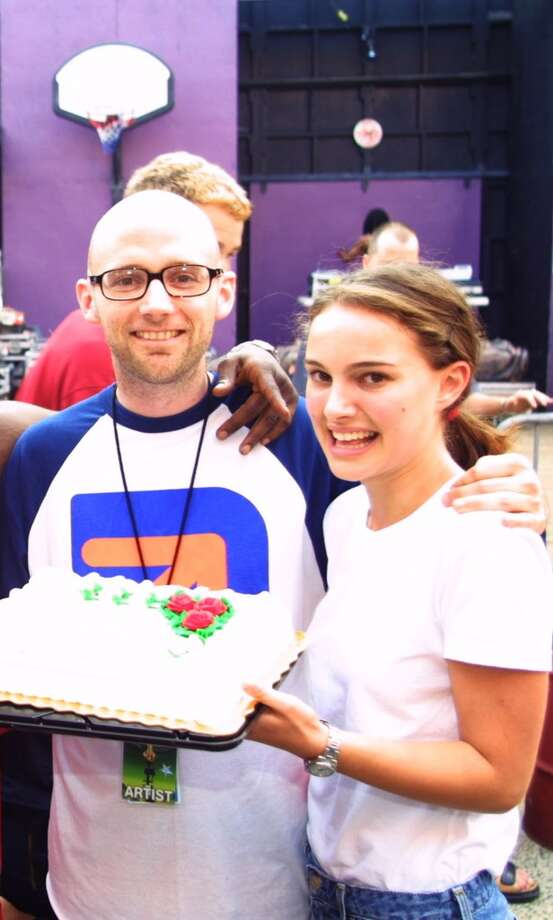 "Moby and Natalie Portman had a brief relationship in the early 2000s (they were both vegans, you know). Moby told Spin of the fling, ""As far as the very brief affair I had with Natalie, it's made me the target of a lot of nerd wrath. You can't date Luke Skywalker's mom and not have them hate your guts."" Photo: Theo Wargo, WireImage"