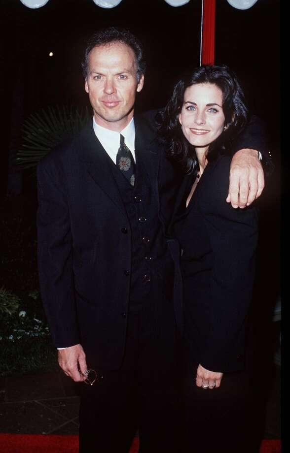 """Michael Keaton and Courteney Cox were together for over five years, from  1989-1995. Shortly after their breakup, Cox said, """"It's the most important relationship I've ever had, and I think he's the most wonderful person I've ever met."""" Photo: S. Granitz, WireImage"""