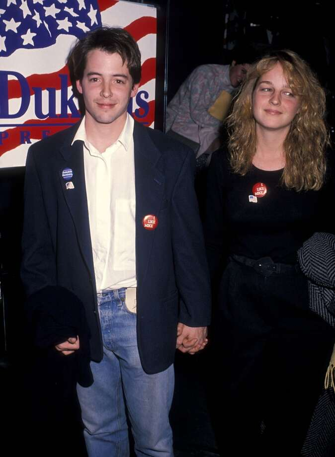 Actors Matthew Broderick and  Helen Hunt made a very cute late '80s couple. He's now Mrs. Sarah Jessica Parker; she's been in a relationship with producer Matthew Carnahan for over a decade. Photo: Ron Galella, Ltd., WireImage