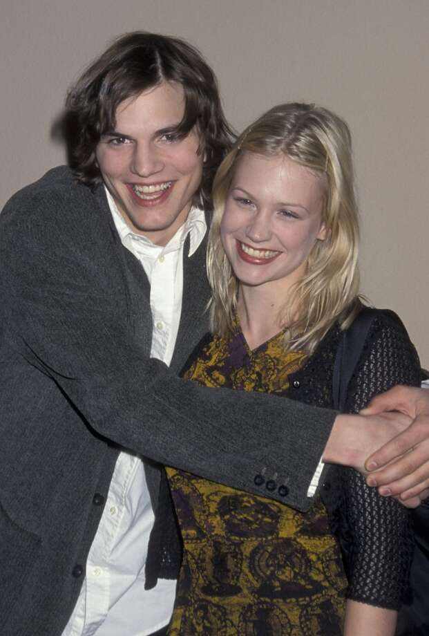 Before Demi and Mila, there was January. Ashton Kutcher and January Jones were a couple from 1998-2001. She told GQ magazine in 2009, however, that Kutcher wasn't supportive of her acting career and didn't think she'd be good at it. Photo: Ron Galella, Ltd., WireImage