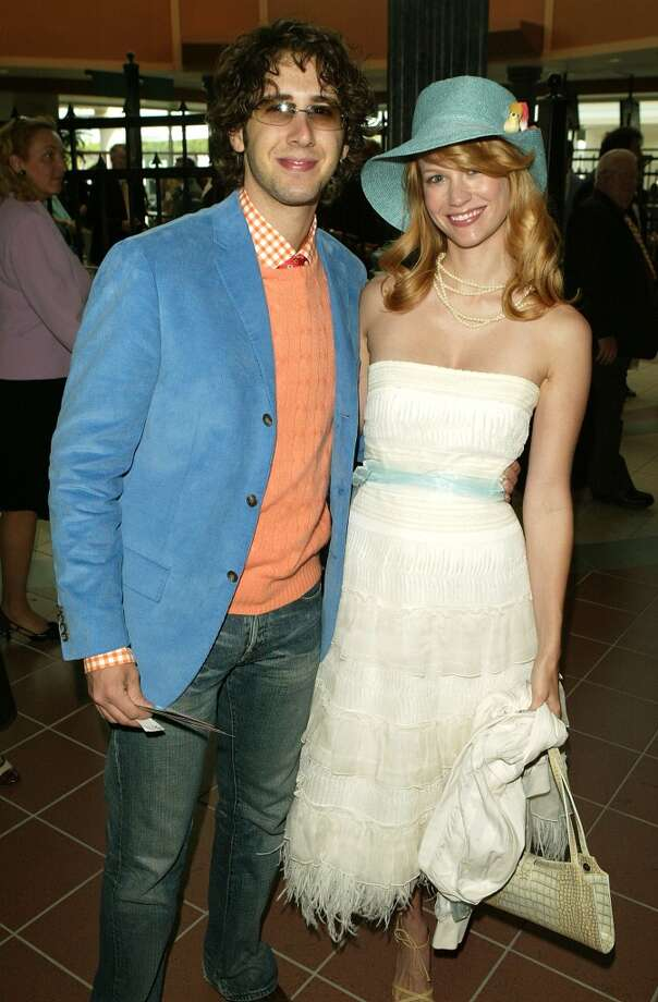 """After dating Ashton Kutcher, January Jones and singer Josh Groban were a thing. He told Details in 2013, """"We dated for about two and a half years, and we were madly in love. It was definitely my longest relationship."""" Photo: Peter Kramer, Getty Images"""