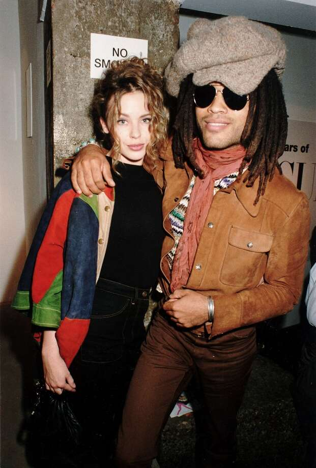 Singers Kylie Minogue and Lenny Kravitz had a brief relationship in the early '90s. Photo: Dave Benett, Getty Images