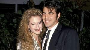 Kelly Preston and George Clooney lived together for about a year in the late '80s. He bought her his beloved potbellied pig Max as a gift, which he kept after they split in 1989.