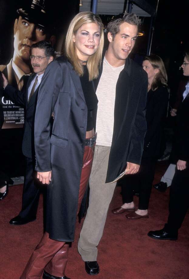 "Before he married Scarlett Johansson and then Blake Lively, actor Ryan Reynolds briefly dated ""3rd Rock From the Sun"" actress Kristen Johnston in 1999. Photo: Ron Galella, WireImage"