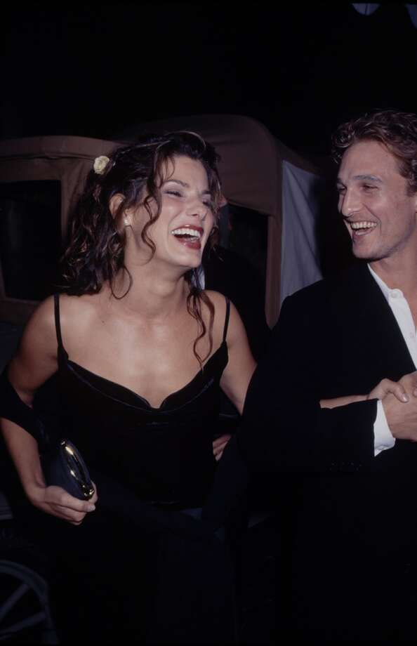 "Actors Sandra Bullock and Matthew McConaughey dated after meeting on the set of 1996's ""A Time To Kill."" Though the romance didn't work out, these two are still good friends. Photo: Time & Life Pictures, Time Life Pictures/Getty Images"