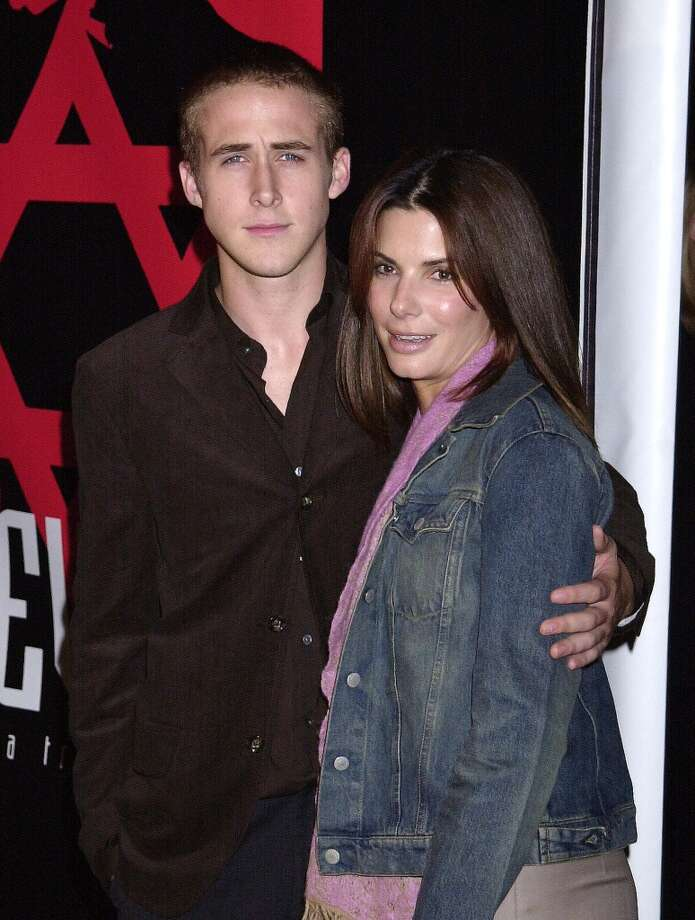 """Sandra Bullock also dated Ryan Gosling from 2002-03. They met on the set of the movie """"Murder by Numbers."""" Gosling has referred to Bullock and another of his exes, Rachel McAdams, as """"two of the greatest girlfriends of all time."""" Photo: Gregg DeGuire, WireImage"""