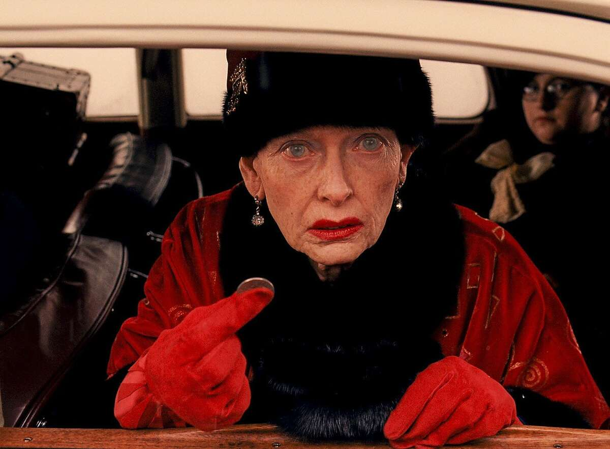 TILDA SWINTON in The Grand Budapest Hotel, directed by Wes Anderson.