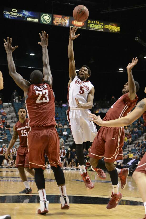 Chasson Randle (5) scored 22 points, but Stanford couldn't shake Washington State until late. Photo: Kyle Terada, Reuters