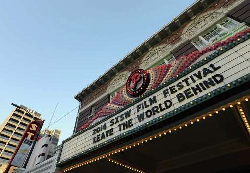 "AUSTIN, TX - MARCH 12:  A general view of the marguee at the screening of ""Leave the World Behind"" at Paramount Theatre on March 12, 2014 in Austin, Texas. Photo: Michael Buckner, Getty Images / 2014 Getty Images"