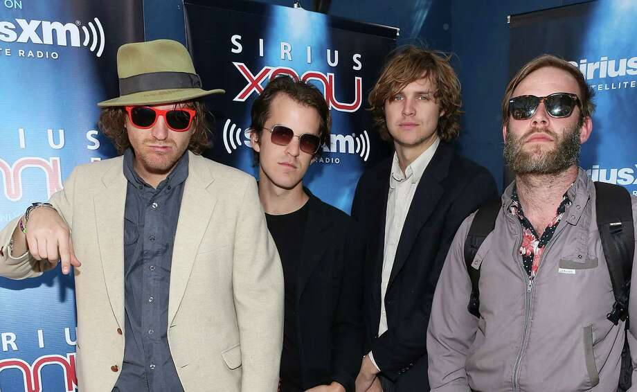 AUSTIN, TX - MARCH 12:  Levi Hayden, Dustin Ineman, Adam Rasmussen and Chris Lynch of Gardens and Villa visit SiriusXM Studios at Fader Fort on March 12, 2014 in Austin, Texas. Photo: Robin Marchant, Getty Images / 2014 Robin Marchant