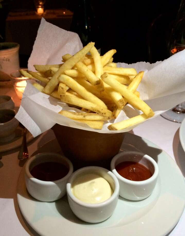 French fries with aioli and ketchup ($8)