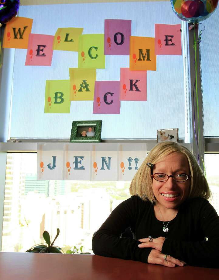 Texas Children's Hospital's Dr. Jen Arnold, also a reality TV show star, is back at work after cancer treatment and adopting two children. Photo: Karen Warren, Staff / © 2014 Houston Chronicle