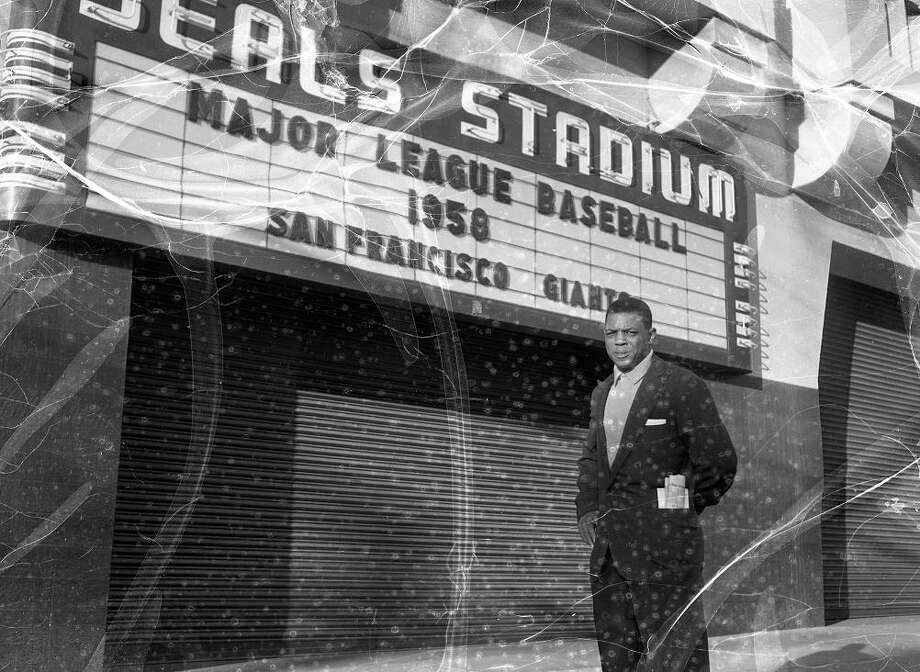 Oct. 31, 1957: The Seals moved to Arizona, and the Giants spent two years at the stadium while Candlestick Park was completed. Willie Mays is not in an electrical storm -- the negative was found damaged. Photo: Joseph J. Rosenthal, The Chronicle