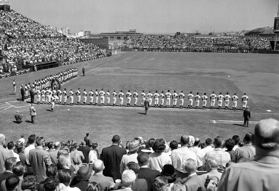 April 15, 1958: Opening Day for the Giants couldn't have gone better. It was 72 degrees, the Dodgers lost 8-0 and dynamic pricing wasn't invented yet. Photo: Bob Campbell, The Chronicle