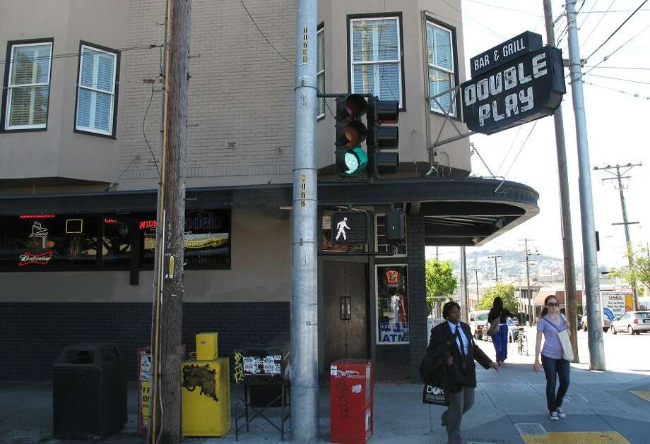 Aug. 28, 2012: While the ballpark is long gone, I was thrilled to see OG sports bar Double Play (established 1909!) is still showing its Seals pride on the corner of 16th and Bryant. The inside is like a museum to the stadium. Photo: Peter Hartlaub, The Chronicle