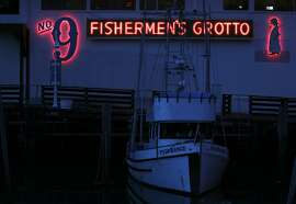 A side view from the pier March 9, 2014 of the Fishermen's Grotto #9 in the Fisherman's Wharf in San Francisco, Calif.