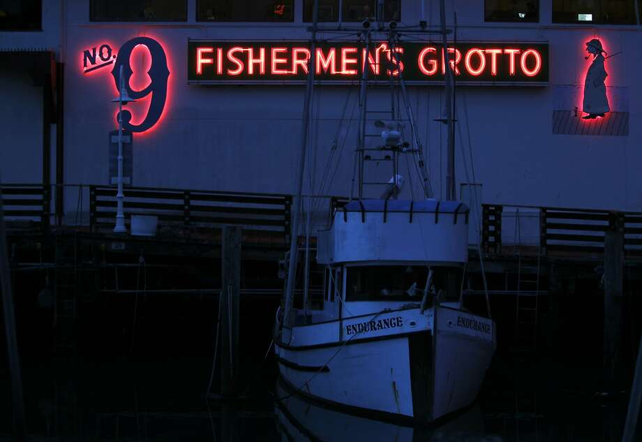 Now 80 years old, No. 9 Fishermen's Grotto, at the end of Taylor Street at Fisherman's Wharf, can serve more than 400 Dungeness crab in a weekend. Photo: Leah Millis, The Chronicle