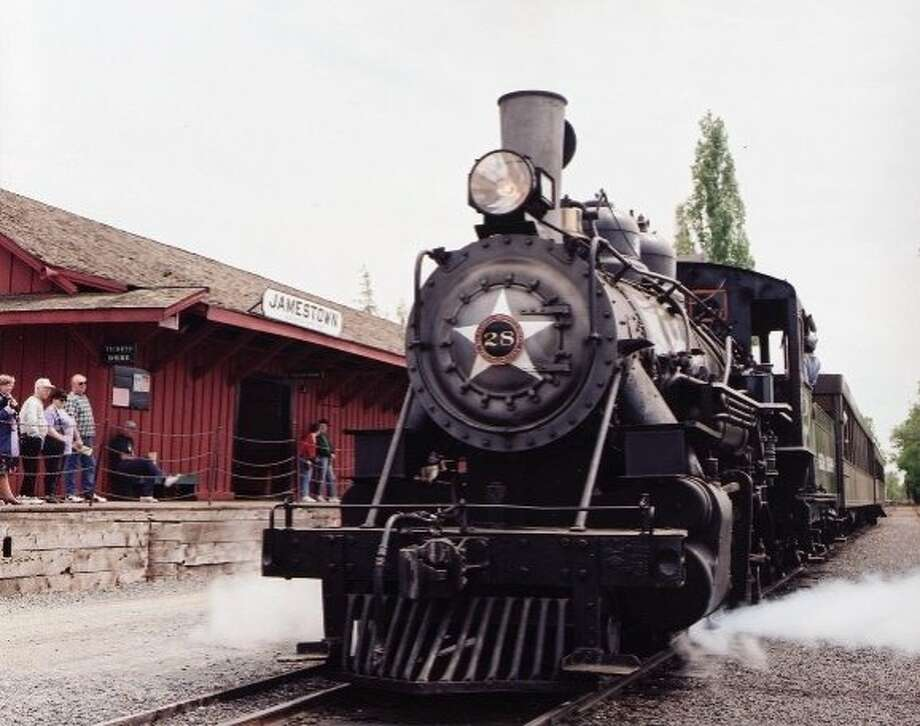 Railtown 1897 State Historic Park has preserved much of the Sierra Railway, built in 1897 in the Gold Country town of Jamestown to carry lumber and ore to other parts of California. Photo: California State Parks