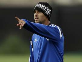 In this Feb. 11, 2013, photo, San Jose Earthquakes' Chris Wondolowski gestures during a training session in San Jose, Calif. Now that he has finally gained some valuable experience with the U.S. national team and proven to be a reliable playmaker up front, Wondolowski's next challenge will be making the 23-man World Cup roster for this year's tournament in Brazil. (AP Photo/Marcio Jose Sanchez)