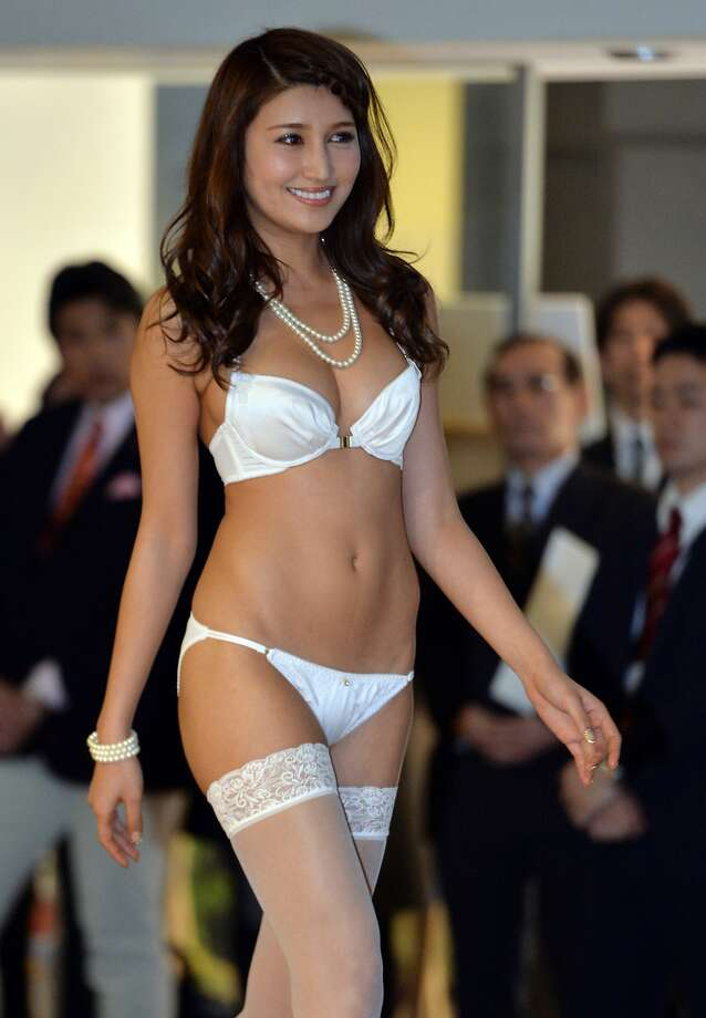 Runway rubbernecking: Apparel maker San-ai's lingerie, modeled at a show in Tokyo, appears to be popular with Japanese businessmen. Photo: Yoshikazu Tsuno, AFP/Getty Images