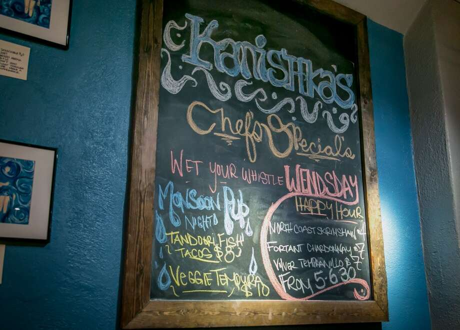 The specials board at Kanishka's Neo-Indian Gastropub in Walnut Creek, Calif., is seen on Wednesday, February 26th, 2014. Photo: Special To The Chronicle