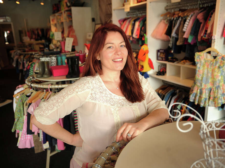 Taryn Bolotin of Westport, owner of Around the Rosy, a children's resale boutique at 222 Post Road West in Westport, Conn. on Thursday, March 13, 2014. Photo: Brian A. Pounds / Connecticut Post