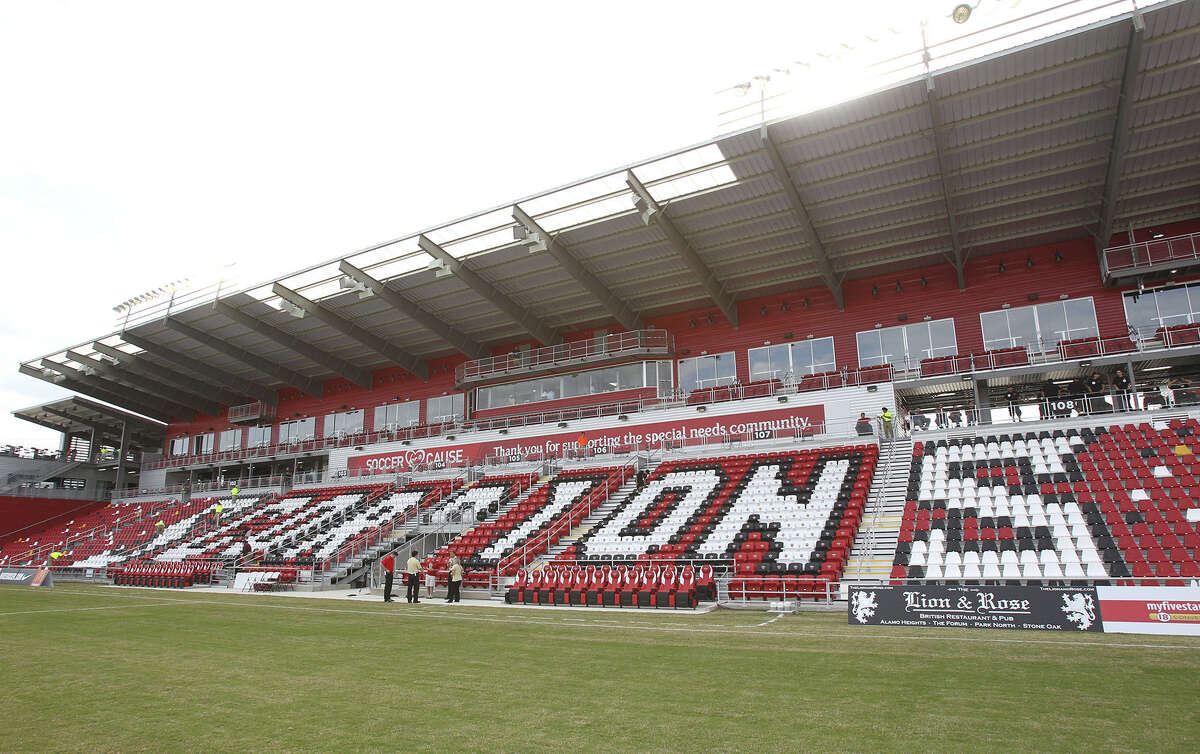The San Antonio Scorpions opened in their new stadium, Toyota Field, against Tampa Bay last April.