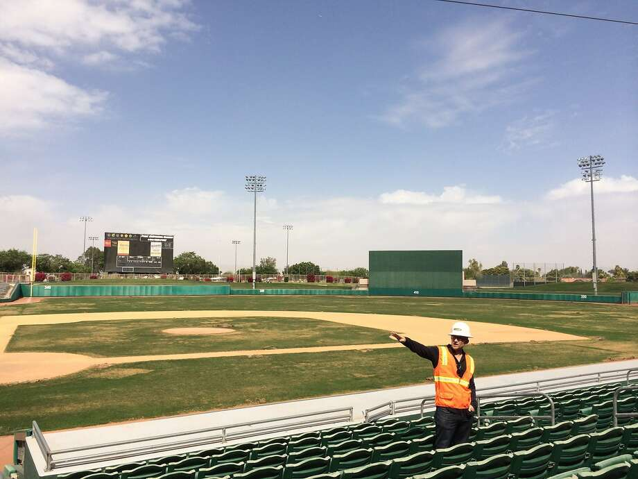 The A's will return in 2015 to Mesa, Ariz., their spring training site from 1969-78, and a newer version of HoHoKam Stadium. Photo: Susan Slusser