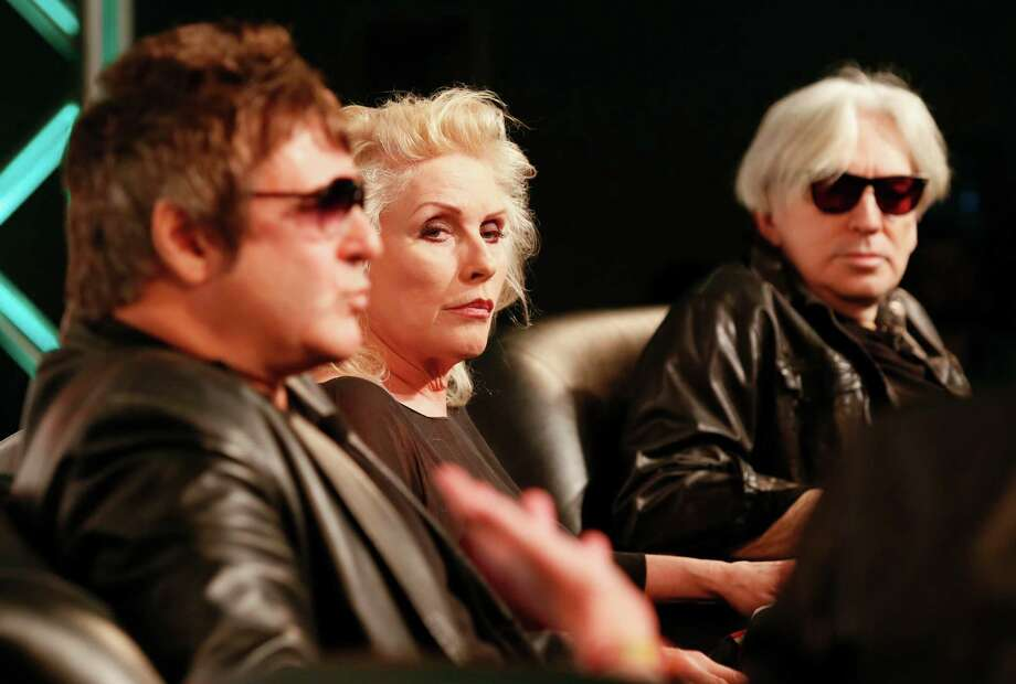 Blondie members, from left, Clem Burke, Debbie Harry and Chris Stein, from left, give an interview during the SXSW Music Festival earlier this week. Photo: Jack Plunkett, INVL / Invision