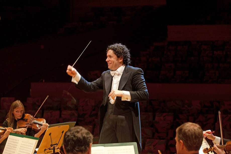 Gustavo Dudamel performs as part of the S.F. Symphony's Great Performers Series. Photo: Vern Evans