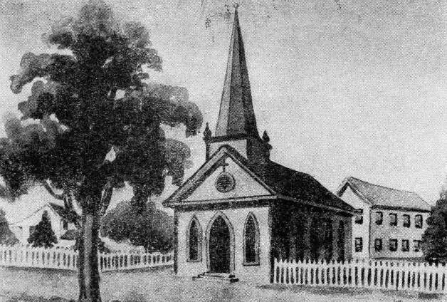Original Christ Church building, 1847. Photo: Houston Chronicle / Houston Chronicle