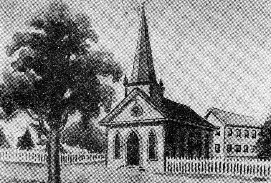 Original Christ Church building, 1847. Photo: Houston Chronicle / Houston Chronicle