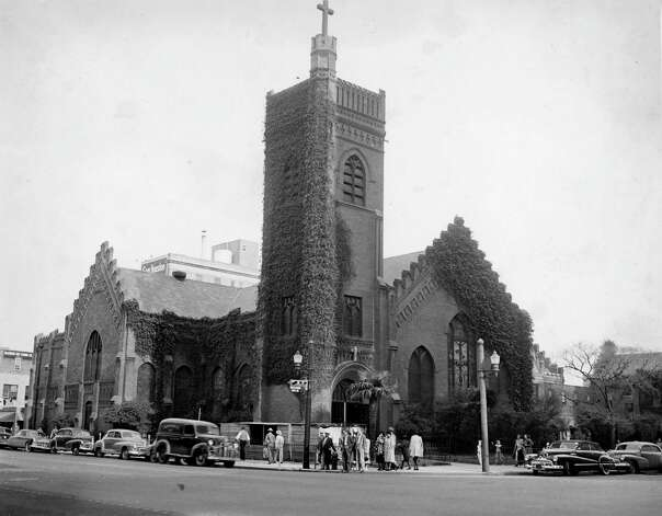 Christ Church Cathedral, 1950. Photo: Houston Chronicle / Houston Chronicle