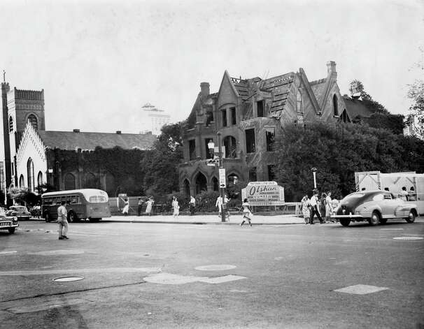 Old rectory at Christ Church Cathedral, July 1950. Photo: Houston Chronicle / Houston Chronicle