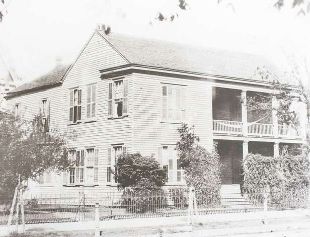 The first Christ Church Rectory, 1119 Texas Avenue at San Jacinto Street, built 1857 when the first church was still standing, demolished 1902 when the second rectory was built on the same site, March 13, 2014 in Houston on display at Treebeards. Photo: Eric Kayne, For The Chronicle / Eric Kayne