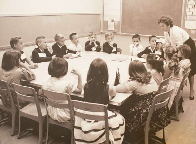 Mrs. Rott Tyler and her Sunday school class circa 1950-1960, March 13, 2014 in Houston on display at Treebeards. Photo: Eric Kayne, For The Chronicle / Eric Kayne