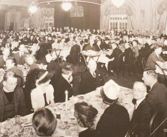 Christ Church Centennial dinner, Rice Hotel, 1939, March 13, 2014 in Houston on display at Treebeards. Photo: Eric Kayne, For The Chronicle / Eric Kayne
