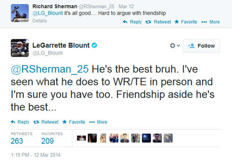 Blount dug in. Surely he knew the risks of poking the hornet's nest .... Photo: Screenshot, Twitter