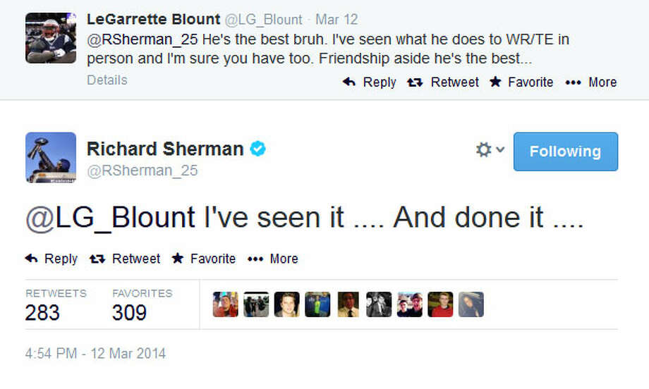 And here we go. Sherman responded in typical Sherman fashion. Photo: Screenshot, Twitter