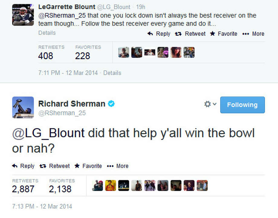 And finally, Sherman played his Super Bowl card. Photo: Screenshot, Twitter