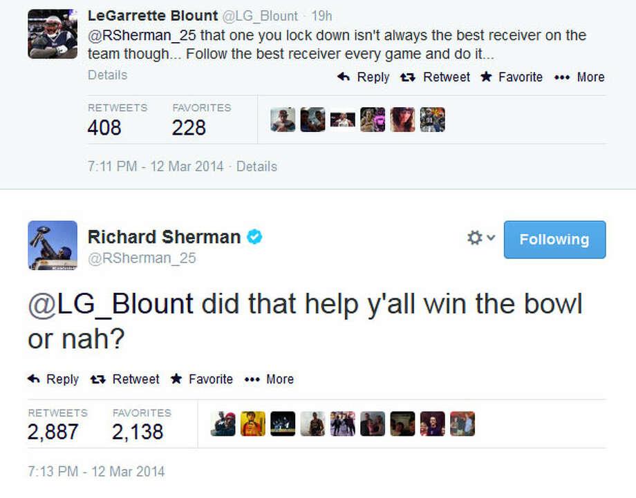 And finally, Sherman played his Super Bowl card. Photo: Screenshot, Twitter