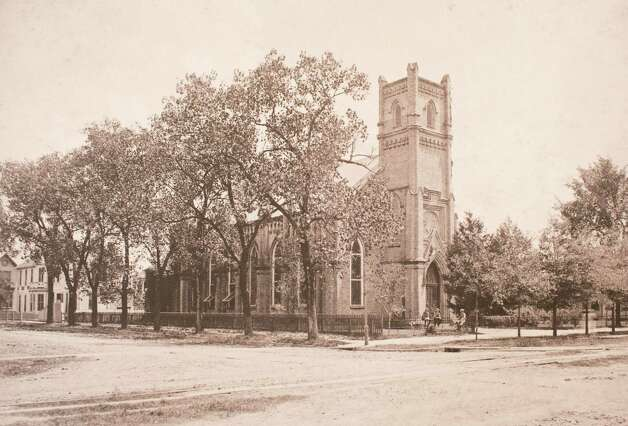 Second Christ Church, built in 1859 facing Texas Avenue at the corner of Fannin Street, March 13, 2014 in Houston on display at Treebeards. Photo: Eric Kayne, For The Chronicle / Eric Kayne