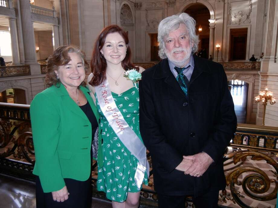 Missy Keehan (at left) with her daughter, Rosie, and husband, musician Vince Keehan, at City Hall. Photo: Catherine Bigelow