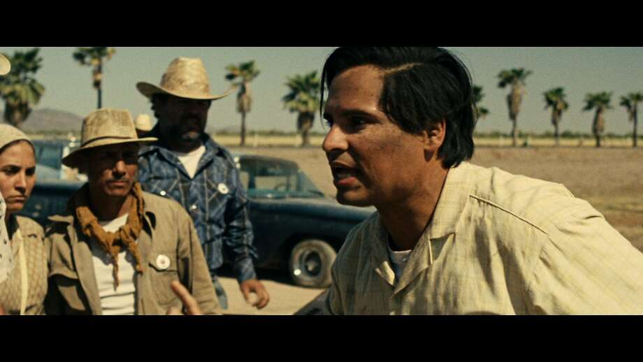 Michael Peña plays labor leader Cesar Chavez, an advocate for nonviolence. Peña says he learned that the organizer loved people but found it difficult to speak in front of groups. Photo: Pantelion Films 2014