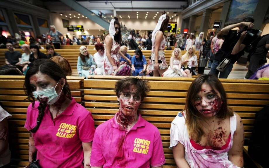 Zombies  The Centers for Disease Control has a zombie preparedness plan, though they assure you that zombies don't exist. That said, the military is getting zombie defense training now. Are you prepared? Photo: AFP/GettyImages Photo: JONATHAN NACKSTRAND, ... / AFP